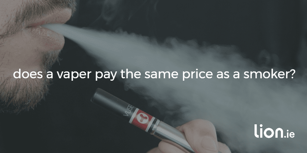 does a vaper pay the same price as a smoker