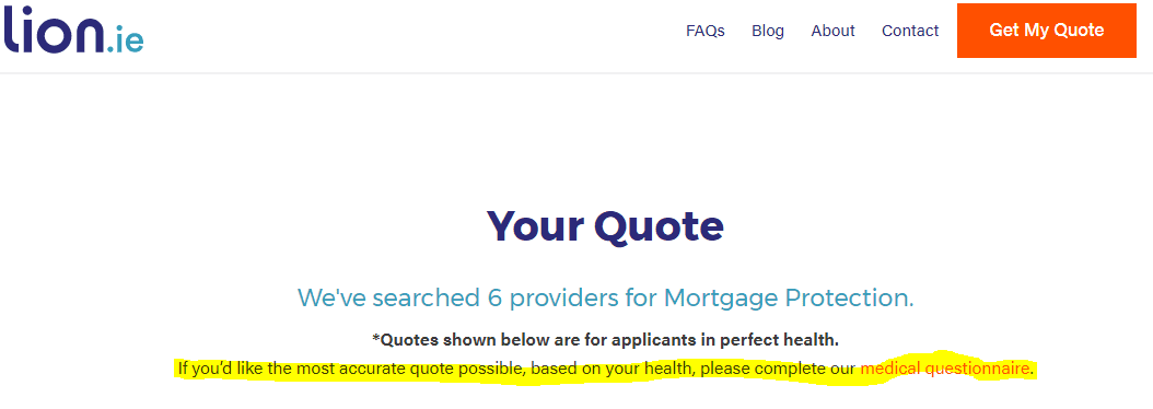 accurate life insurance quote