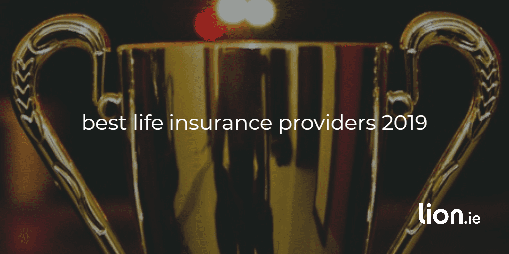 best life insurance providers 2019 text on image of a trophy